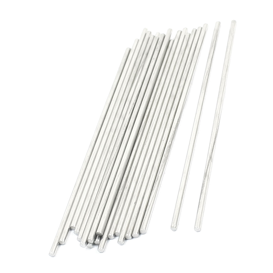 20Pcs Milling Welding Working Stainless Steel Round Rods 120 x 2.5mm