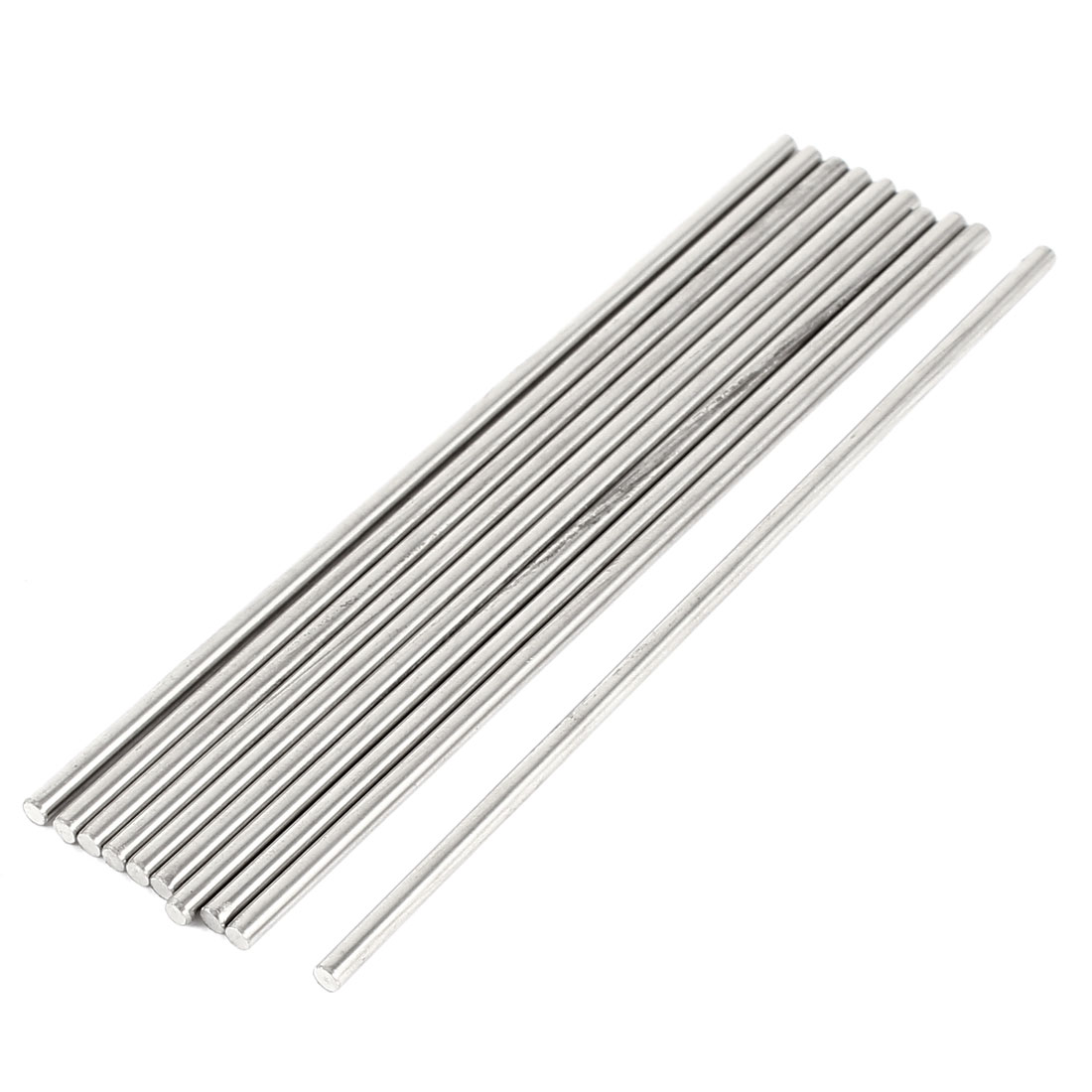 10pcs RC Aircraft Toys Replacement Stainless Steel Round Bar 100x2.5mm