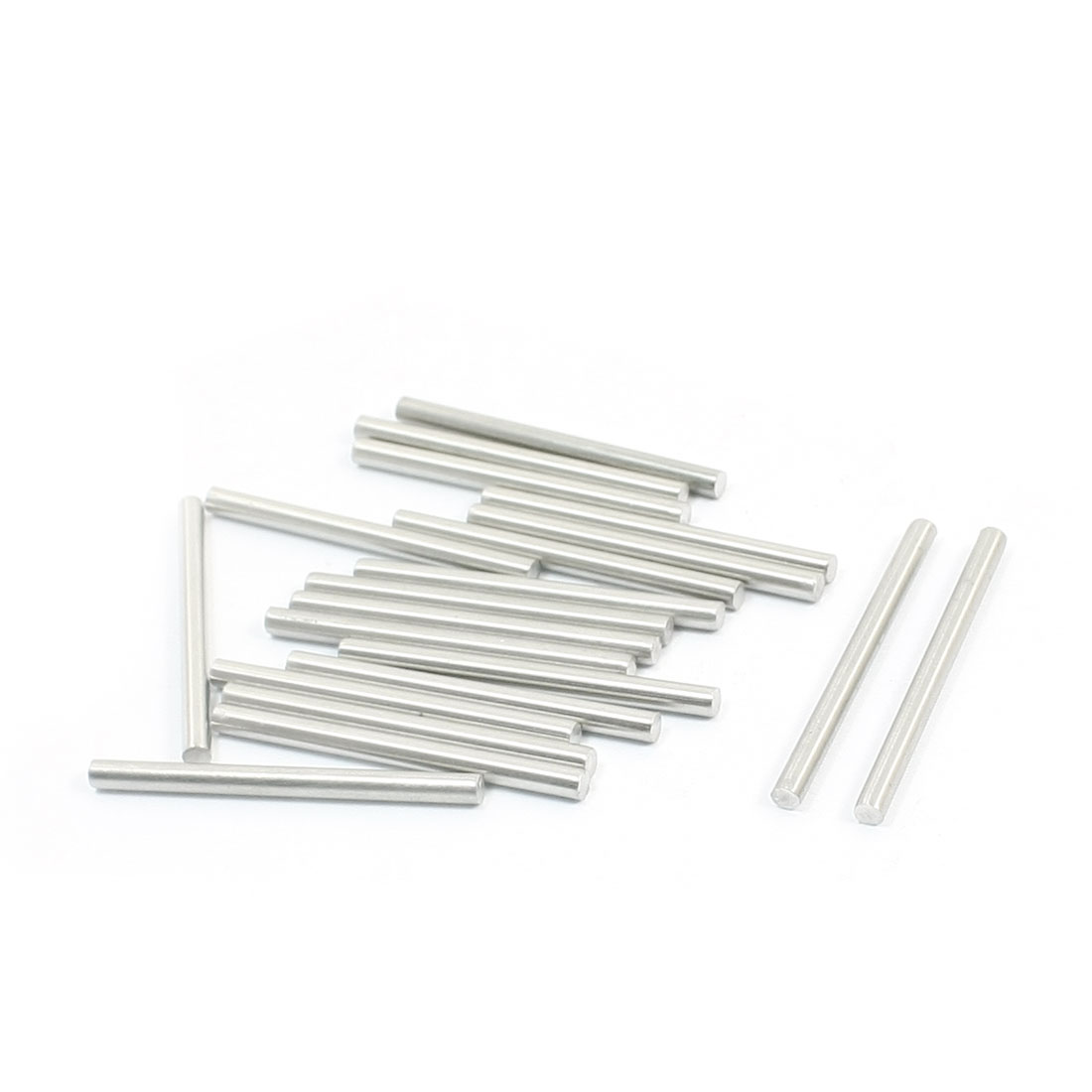 20pcs Stainless Steel Component Parts Round Bar 40mm Long 3mm Dia