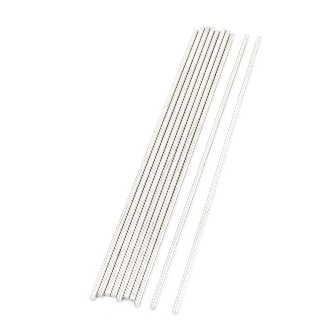 10Pcs 150 x 2.5mm Hardware Tools Stainless Steel Round Rods for Car Model