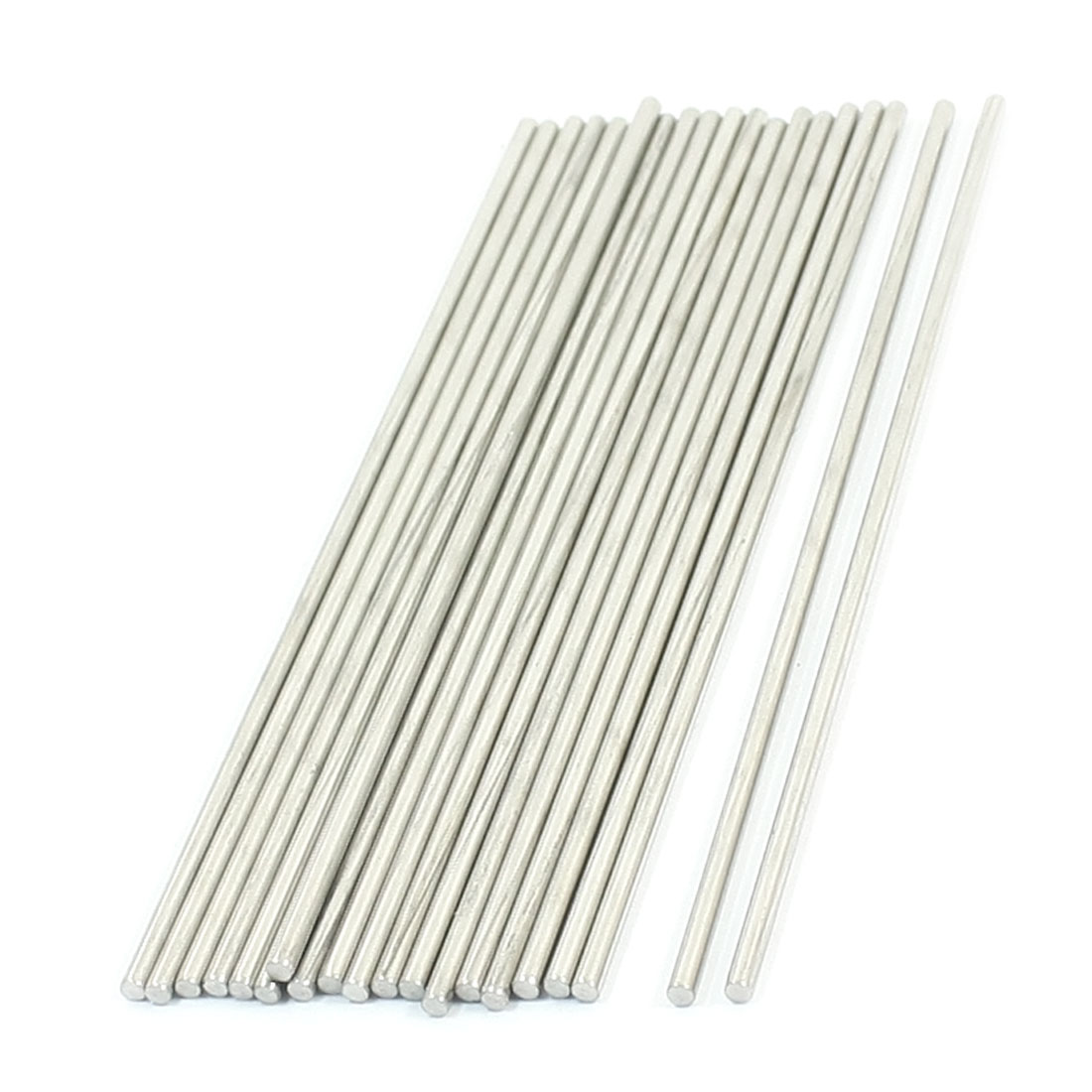 20PCS RC Model Spare Parts Stainless Steel Round Bar Shaft 130mmx2.5mm