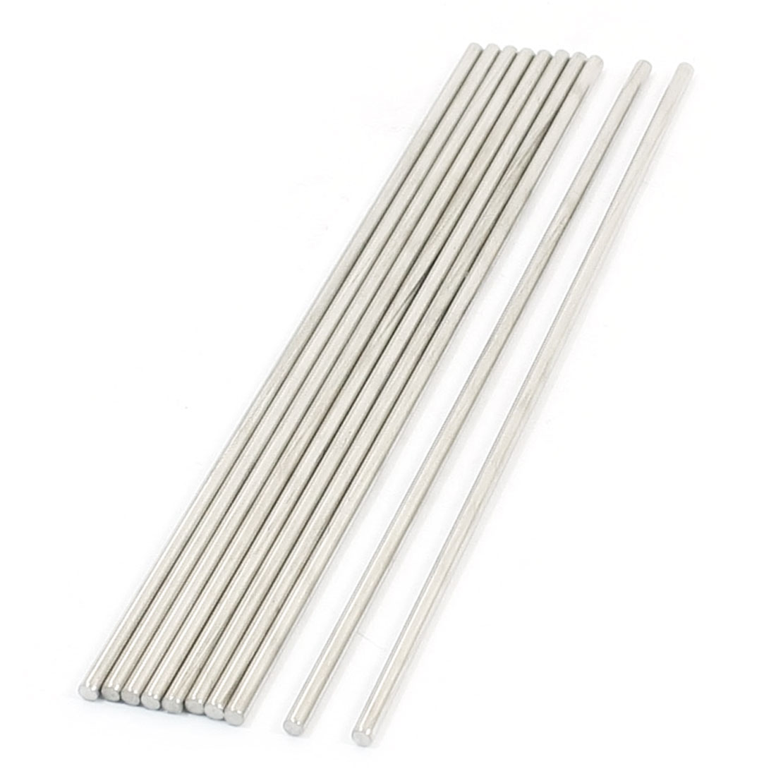 10pcs Stainless Steel 130 x 2.5mm Round Rod Shafts for RC Model