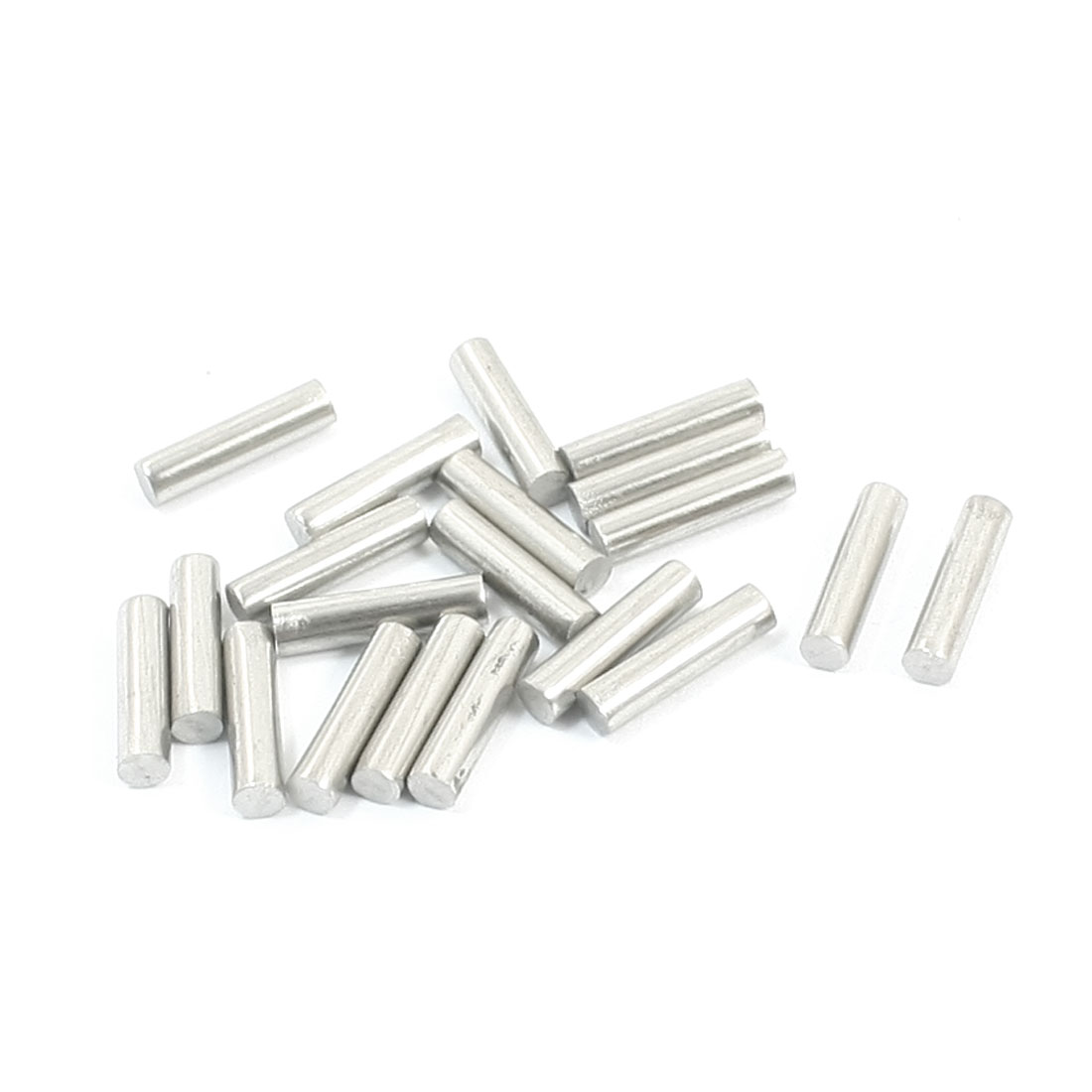20pcs Silver Tone Stainless Steel 10 x 2.5mm Round Rod Axle for Boat Toys