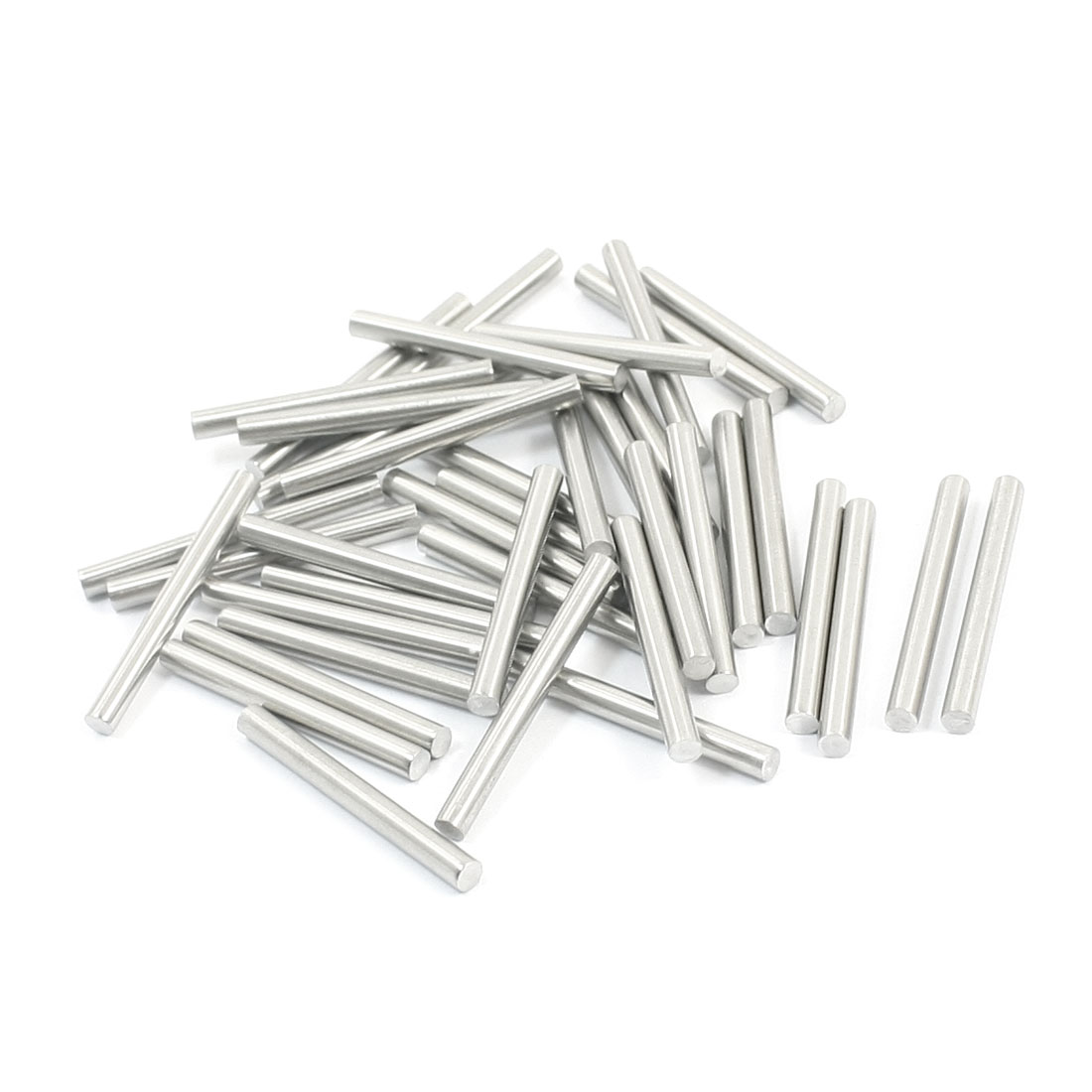 40Pcs Hardware Stainless Steel 30x3mm Transmission Lathe Round Rods