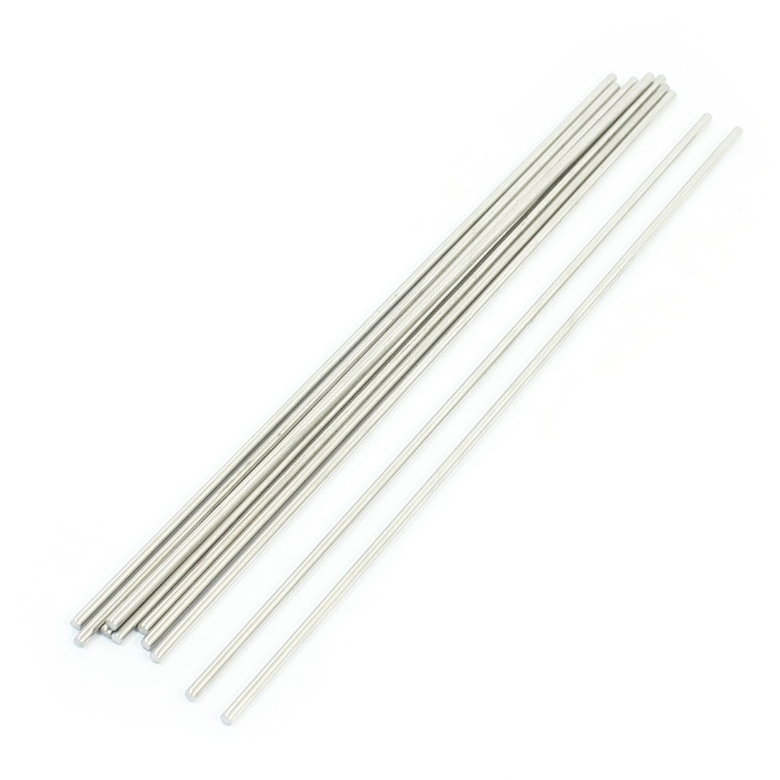 10pcs Silver Tone Stainless Steel 170 x 2.5mm Round Rod Axle for Boat Toys
