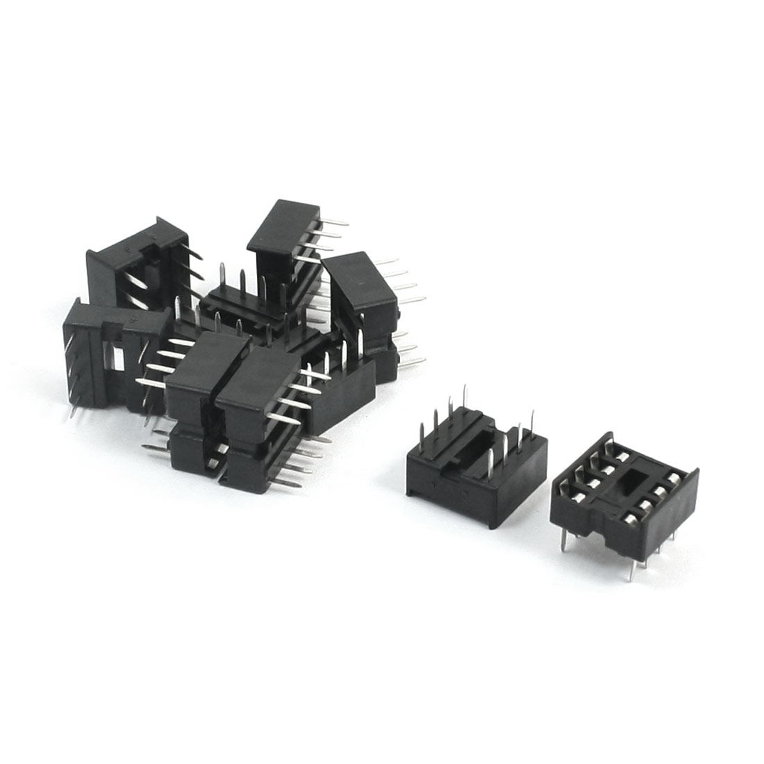 10pcs 8P 8Pins 2.54mm DIP IC PCB Board Sockets Adapter Solder