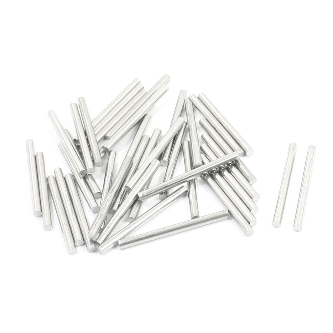 40pcs Stainless Steel Machinery Parts Component Round Bar 30x2.5mm