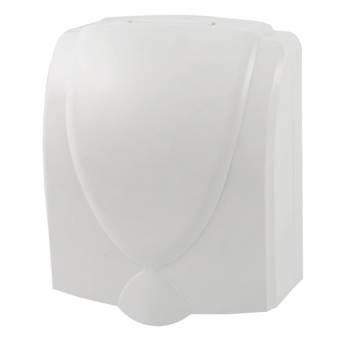 White Plastic Wall Panel Switch Socket Holder Splash Proof Box 120x99x45mm