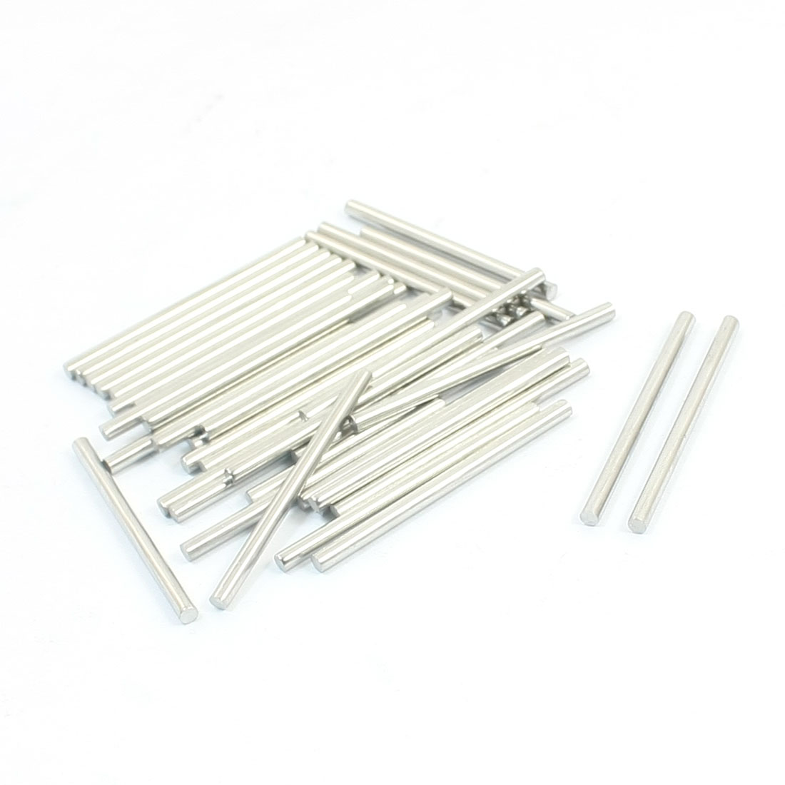 40pcs RC Airplane Toys Spare Parts Stainless Steel Round Bar 40x2.5mm