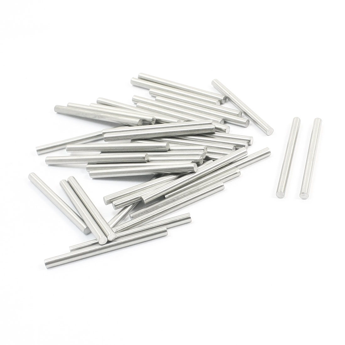 40Pcs Stainless Steel Car Models Electric Model Round Rods 40mmx3mm