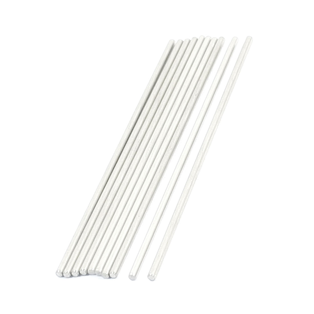 10Pcs 90 x 2mm Hardware Tools Stainless Steel Round Rods for Car Model