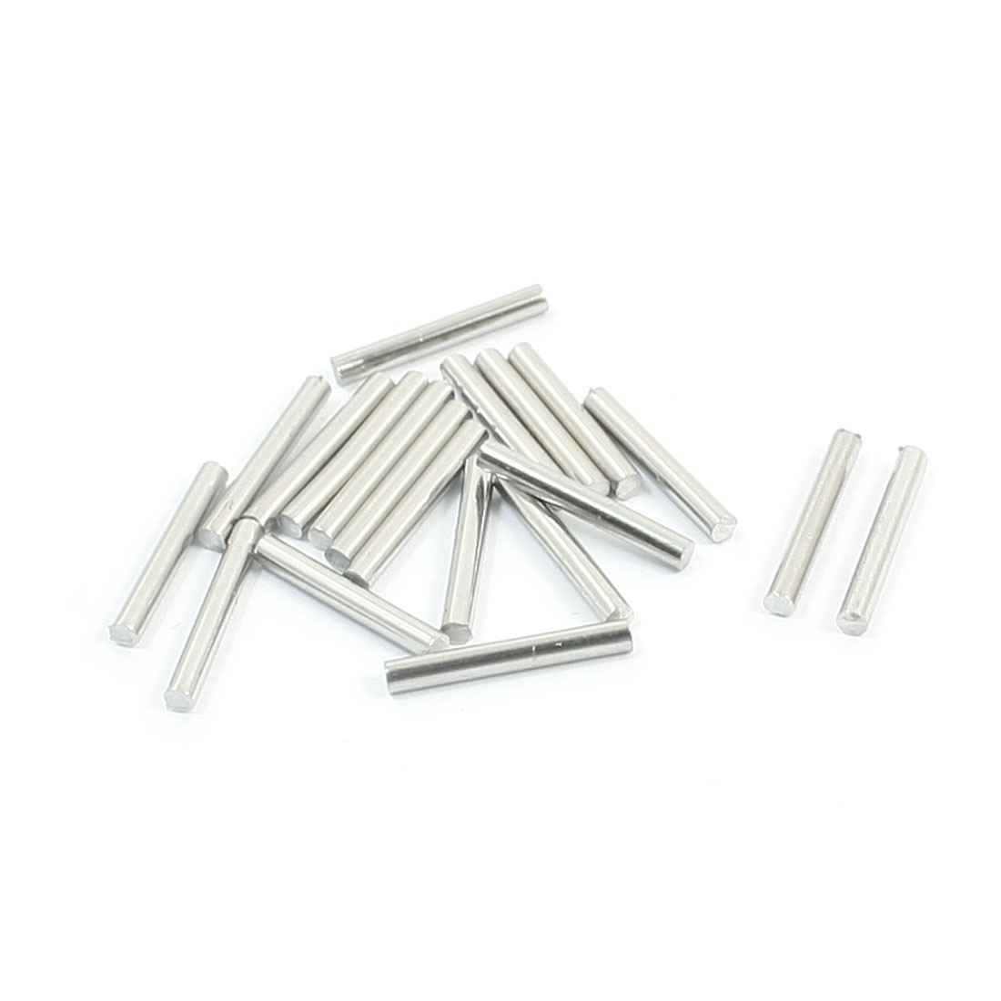 20Pcs 15 x 2mm Stainless Steel Cylinder Linear Rail Round Rod Axle