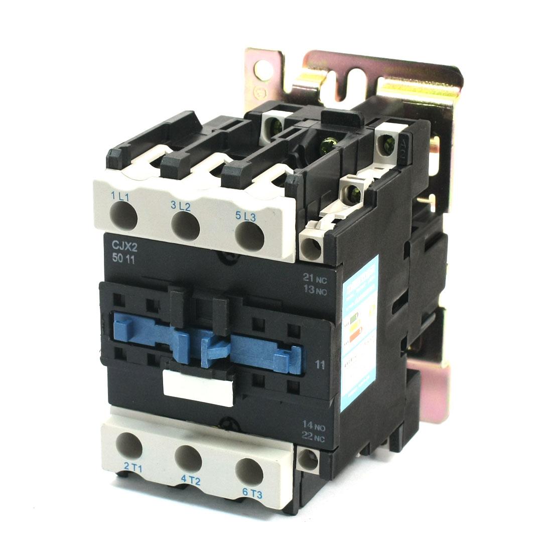 CJX2-5011 220V Coil Volt 70A Motor Control NO NC 3 Pole AC Contactor