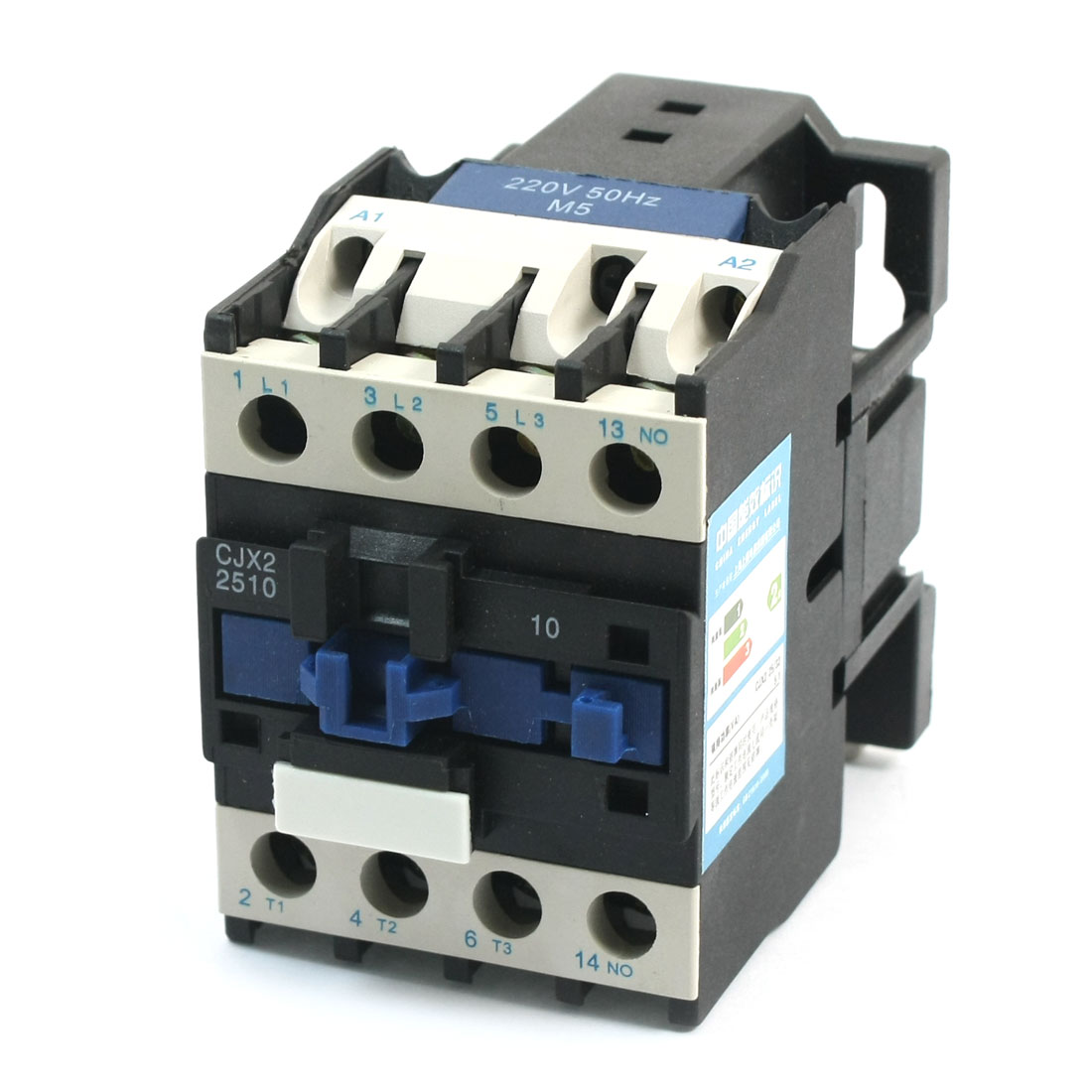 CJX2-2510 35mm DIN Rail Mount 3 Phase AC Contactor 220V Coil 40A