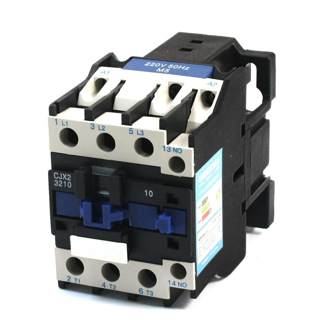 CJX2-3210 35mm DIN Rail Mount 3 Phase AC Contactor 220V Coil 50A