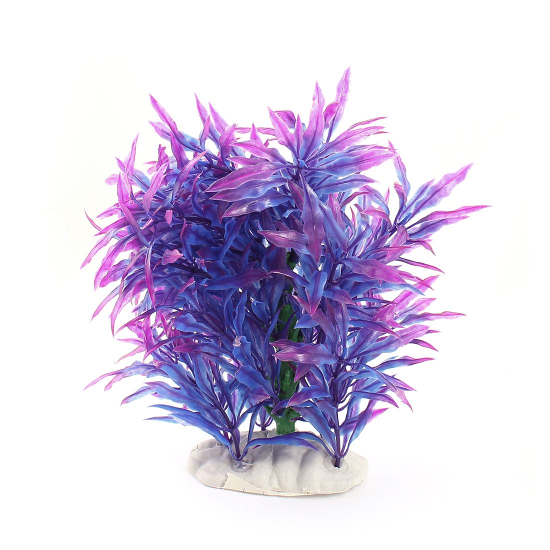 Aquarium Fish Tank Purple Blue Manmade Underwater Plant Ornament