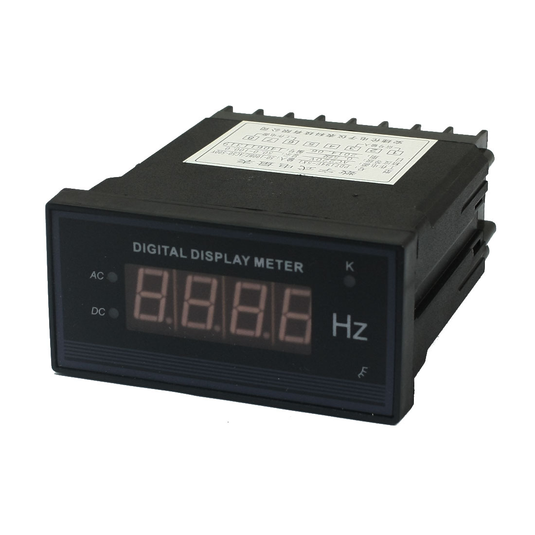 AC220V 50.0-100.0 Testing Range 8 Screw Terminals Programmable Panel Mount 3.5 Bits LED Digital Display Meter