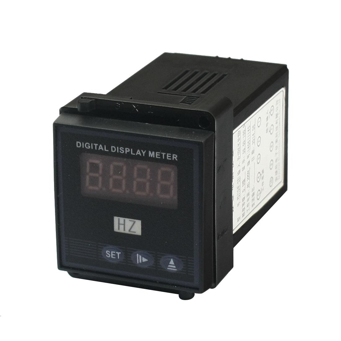 AC220V 50.0-100.0 Panel Mount 10 Screw Terminals Voltage Current Testing Square Programmable 4 Bits LED Digital Display Meter