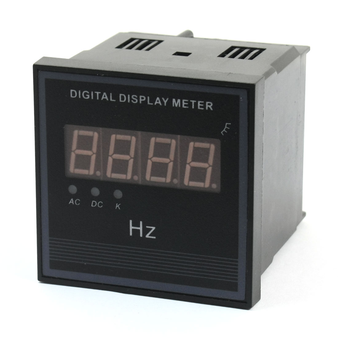 Square Shell 4 Digit Red LED Display Meter Tester Gauge Ammeter AC 220V