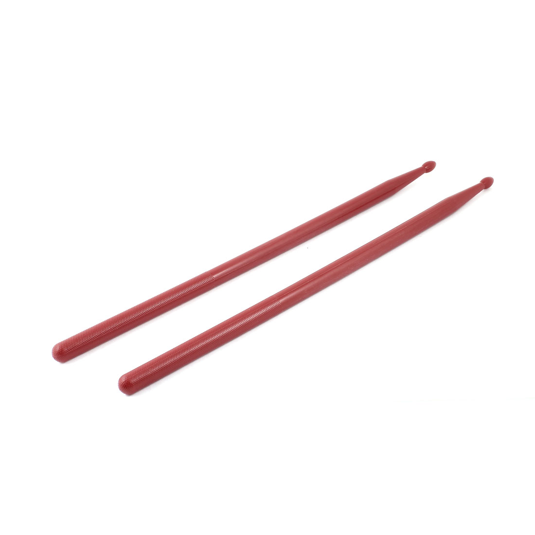 5A Nonslip Grip Music Band Plastic Drum Rod Sticks Drumsticks Red 2 Pcs
