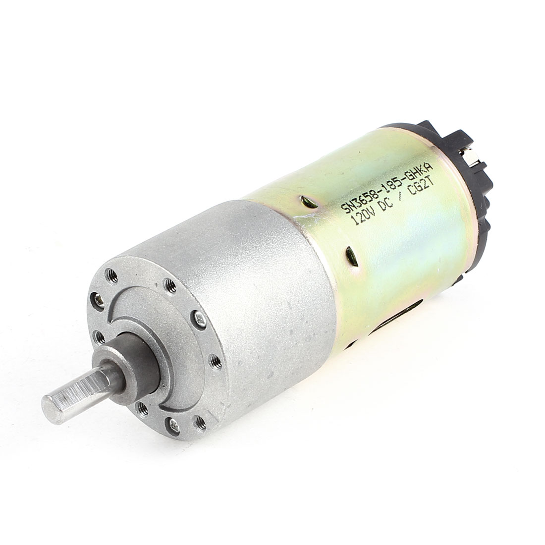 DC 12V 1RPM Metal 6mm Diameter Axle Electric Gear Box Speed Reduction Mini Motor