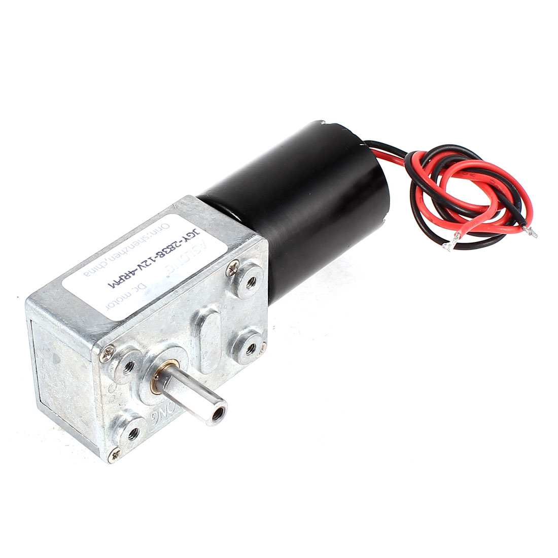 DC 12V 4RPM 6mm Dia Shaft Turbine Worm Geared Box Speed Reducing Brushless Motor