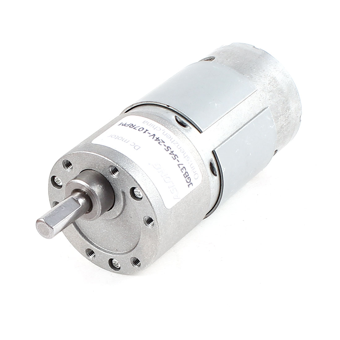 DC 12V 107RPM Metal Axle Electric Geared Box Speed Reduction Motor for Smart Car