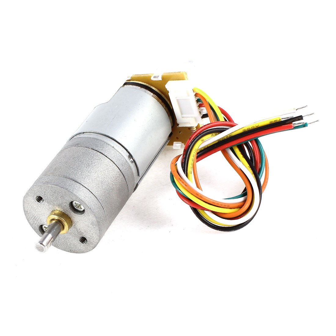 DC 12V 41RPM JGA25-371 Encoder Speed Measuring Disk Reduction Motor Silver Tone