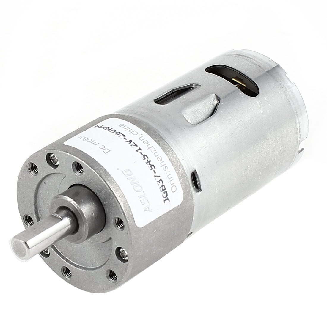 DC 12V 260RPM Metal Axle Electric Gearbox Geared Speed Reduction Micro Motor
