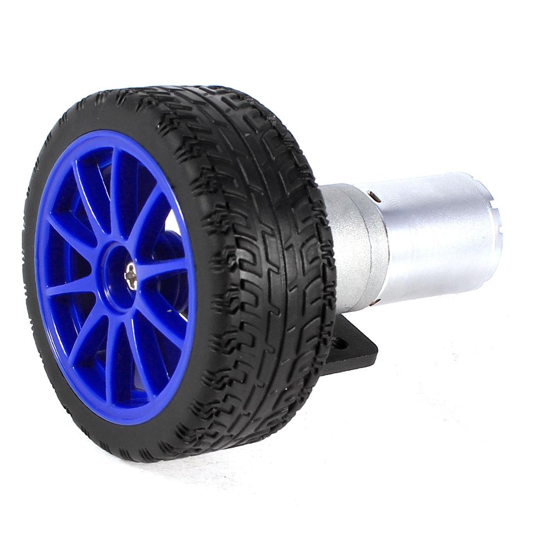 4 in 1 DC Reducing Motor + Bracket + Tyre Tire Wheel + Hex Coupler for Smart Car
