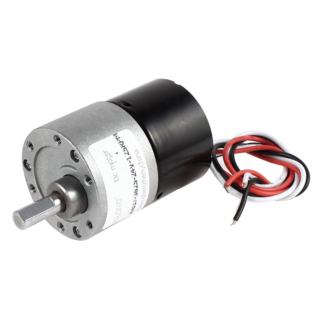 DC 24V 125RPM 5.9mm Shaft Electric Geared Box Speed Reducing Brushless Motor