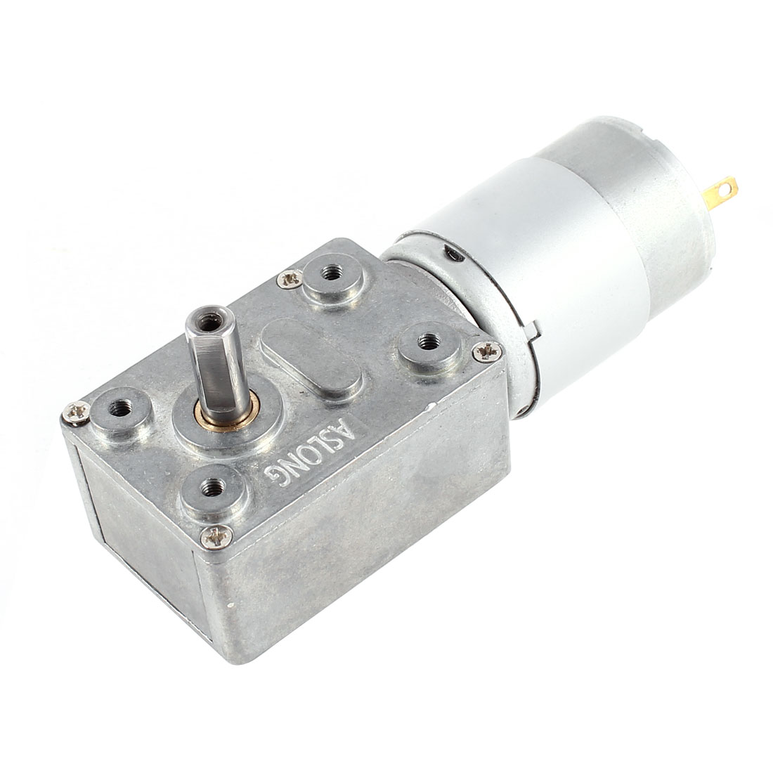 DC 24V 208RPM Metal Shaft Rectangle Shape Gearbox Speed Reduction Electric Motor