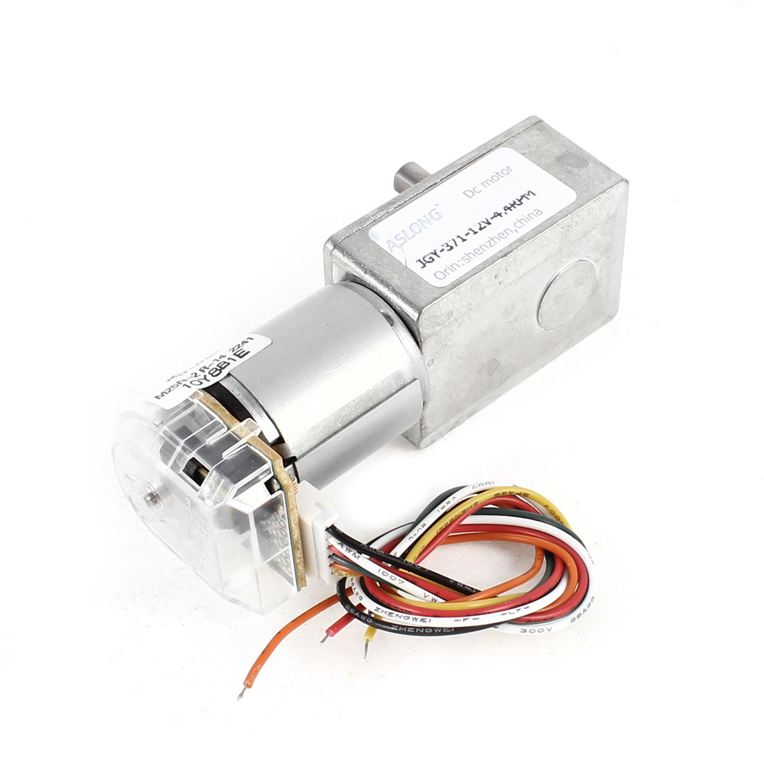 DC 12V 4.4RPM Encoder Speed Measuring Disk Turbine Worm Micro Reduction Motor