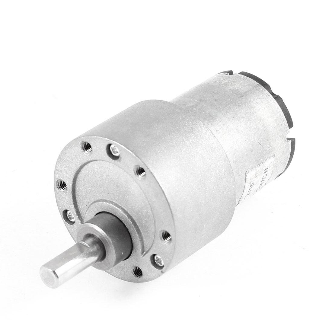 DC 12V 180RPM 5Kg.cm Torque 6mm Dia Shaft Electric Gear Box Speed Reducing Motor