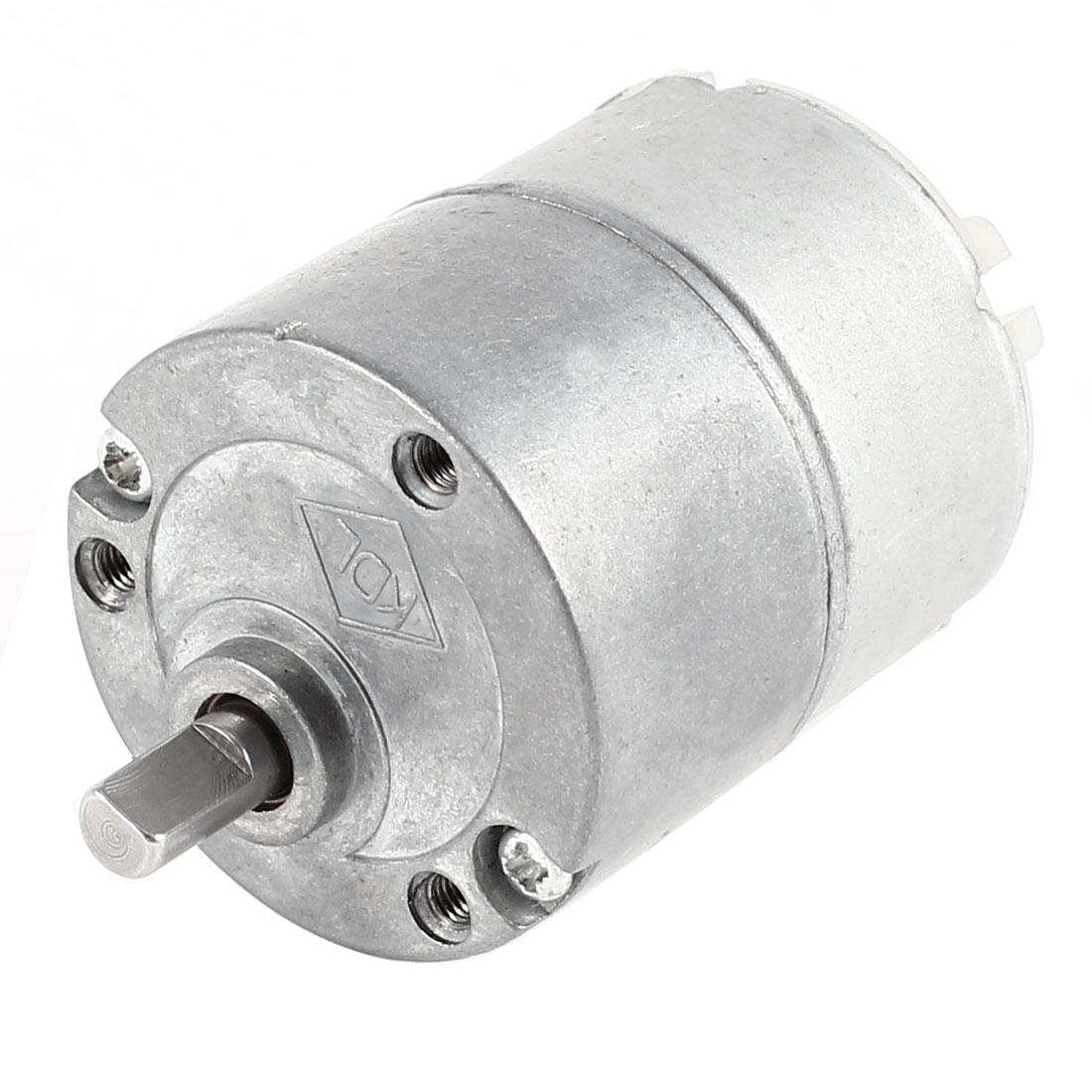 JGB33-500T DC 12V 188RPM 5mm Diameter Shaft Electric Gear Box Speed Reduce Motor