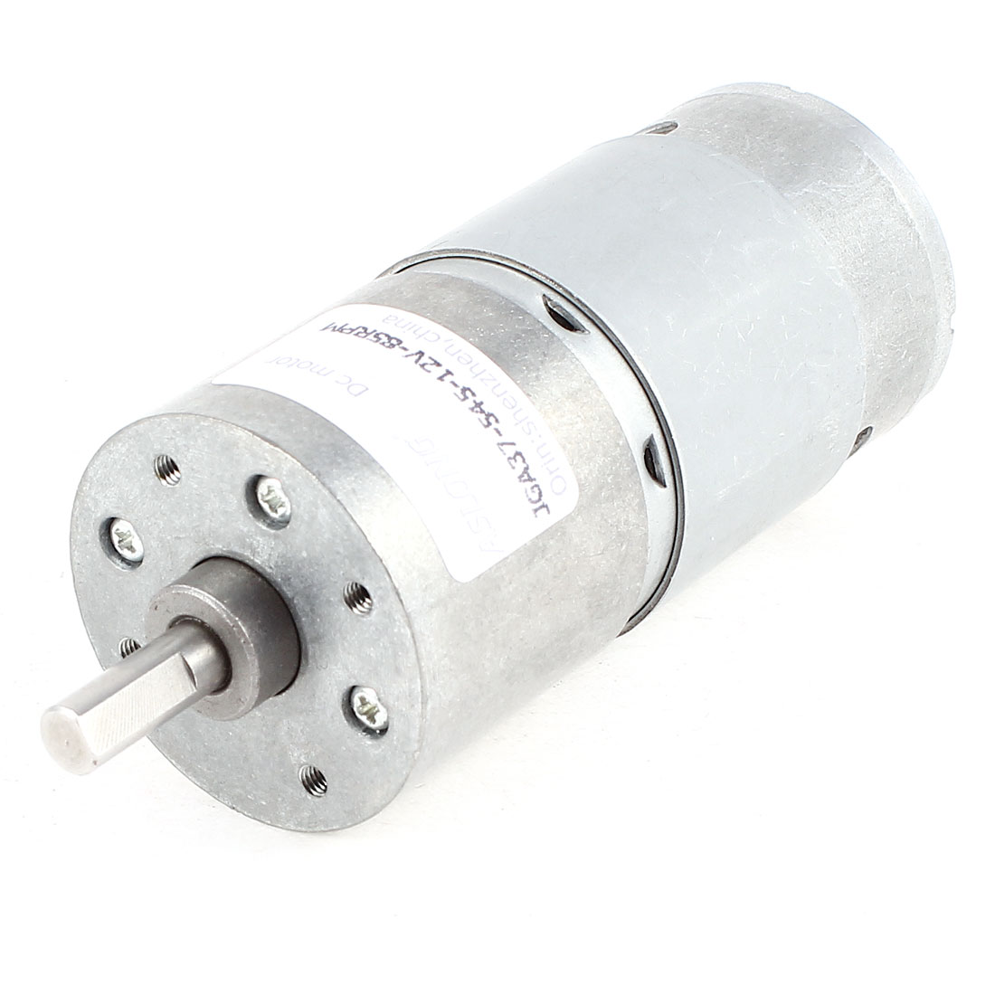 JGA37-545 DC 12V 85RPM Center Axis High Torque Gear Box Geared Micro Motor