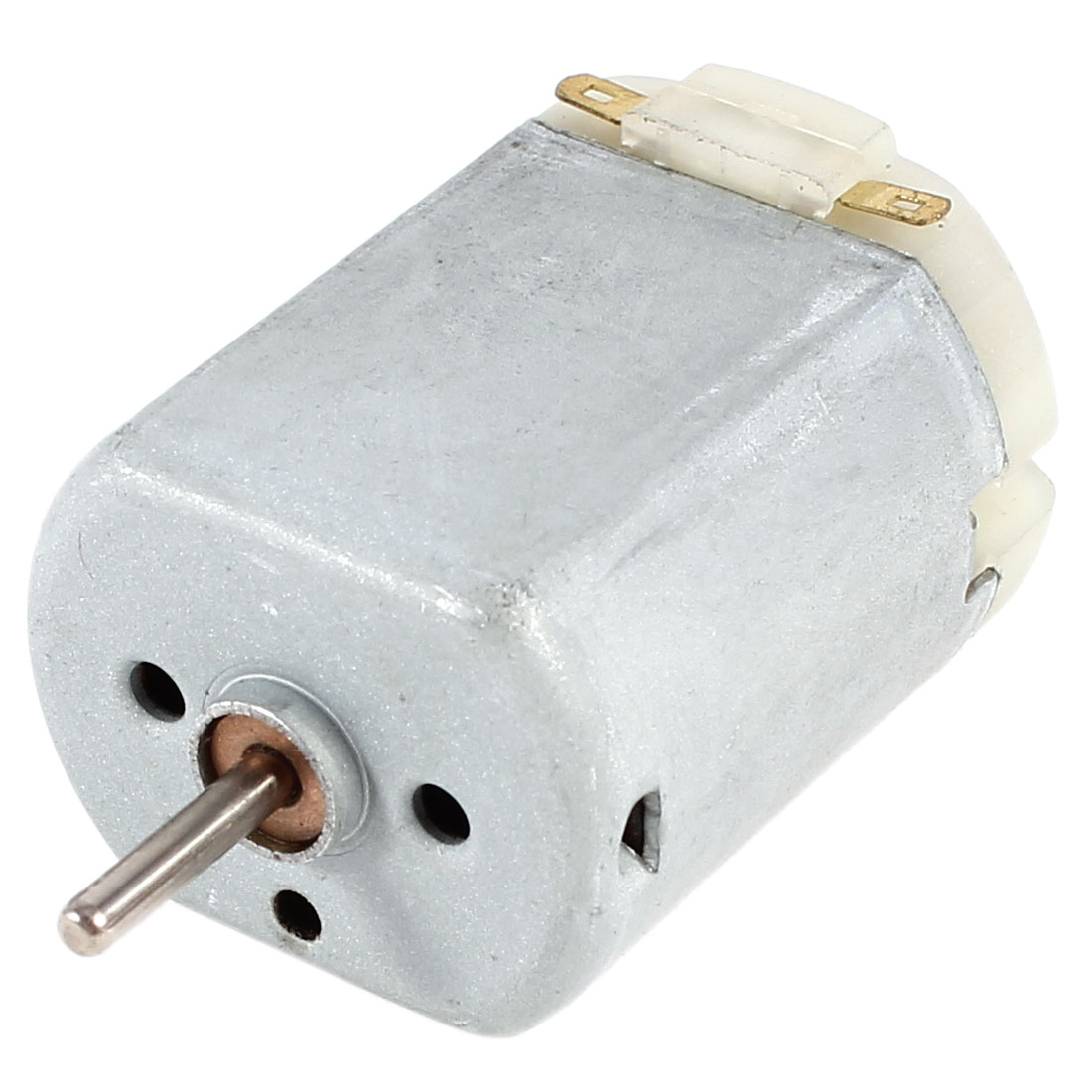 Miniature Electric DC Toy Motor 6V-12V 6500RPM-13000RPM Replacement Silver Tone