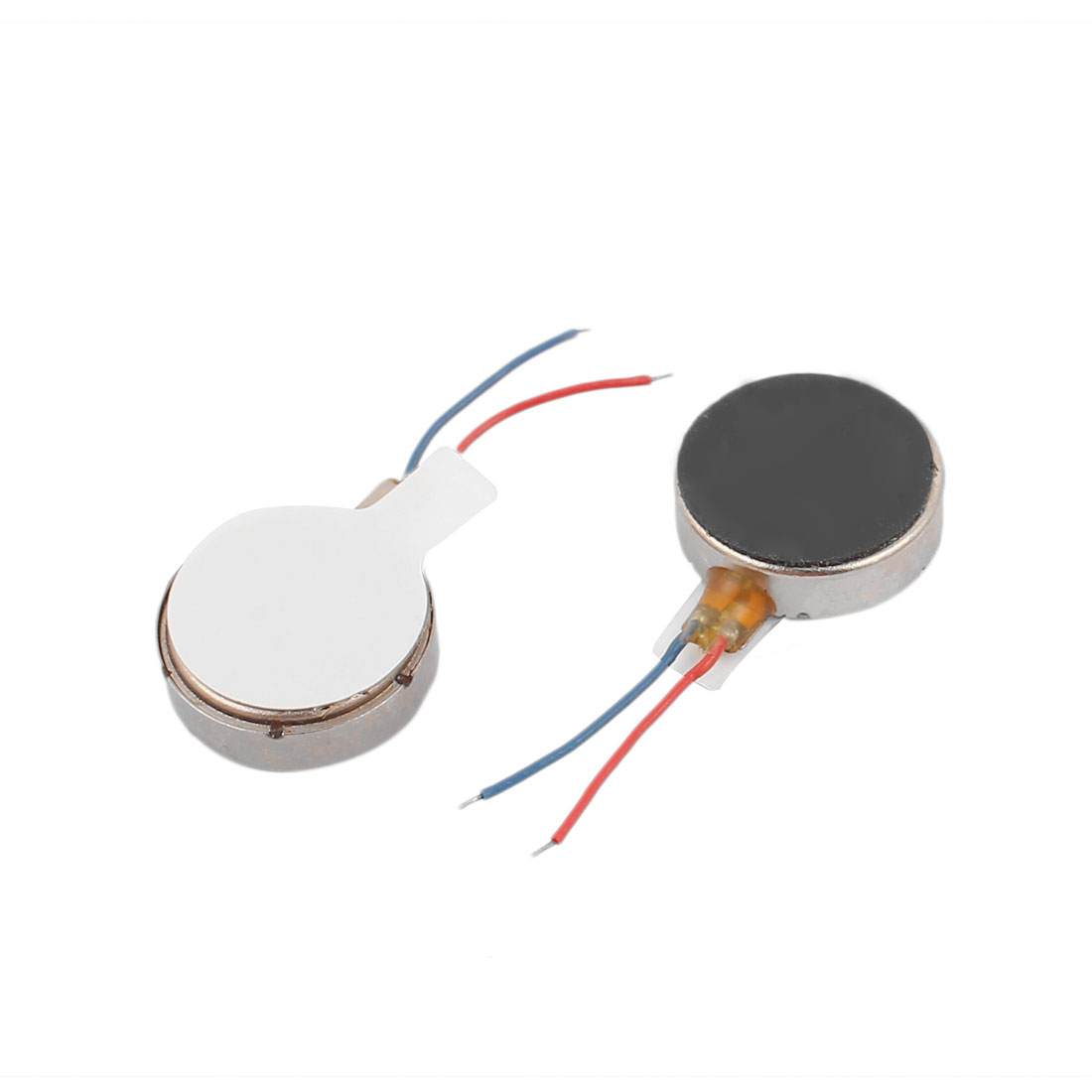 2 Pcs A1234 DC 1.5-3V Flat Button Shape Vibrating Vibration Motor for Mobile Phone