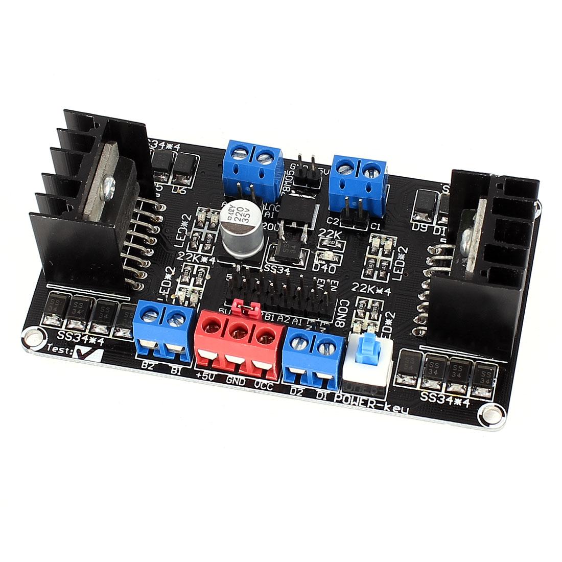 Smart Car 4 Channel Motor Driver Module Template SCM DC 6-12V L298NS