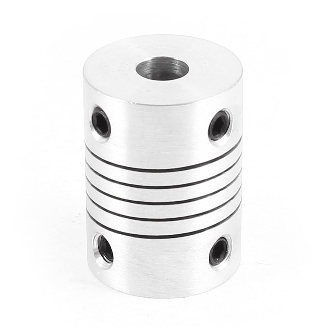 CNC 6mm Aluminum Alloy Electric Motor Shaft Coupler Coupling Joiner Silver Tone