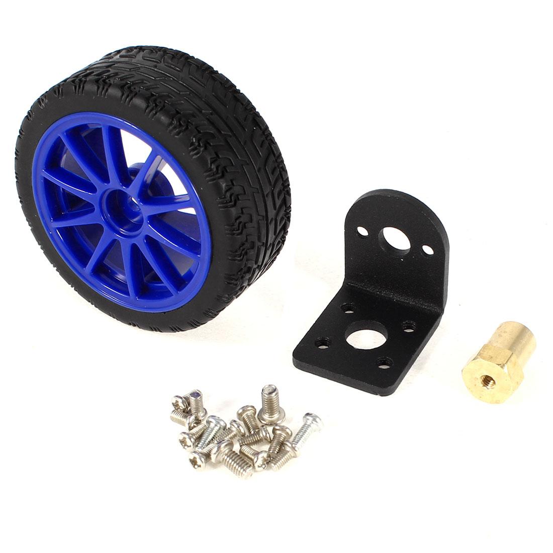 3 in 1 DC Reduction Motor Bracket Tyre Tire Wheel Hex Coupler Set for Smart Car