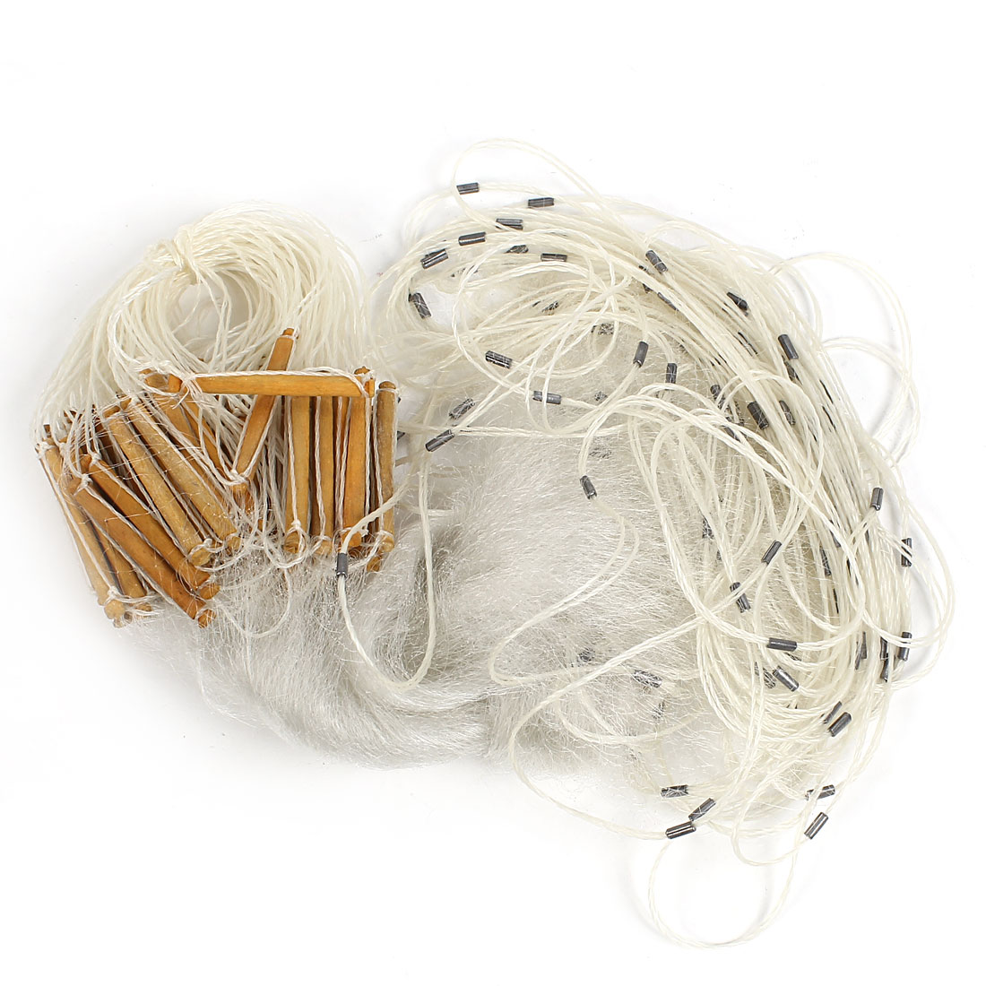 20M x 1M White Monofilament Mesh Hole Fishing Fish Gill Net 1.5cmx1.5cm