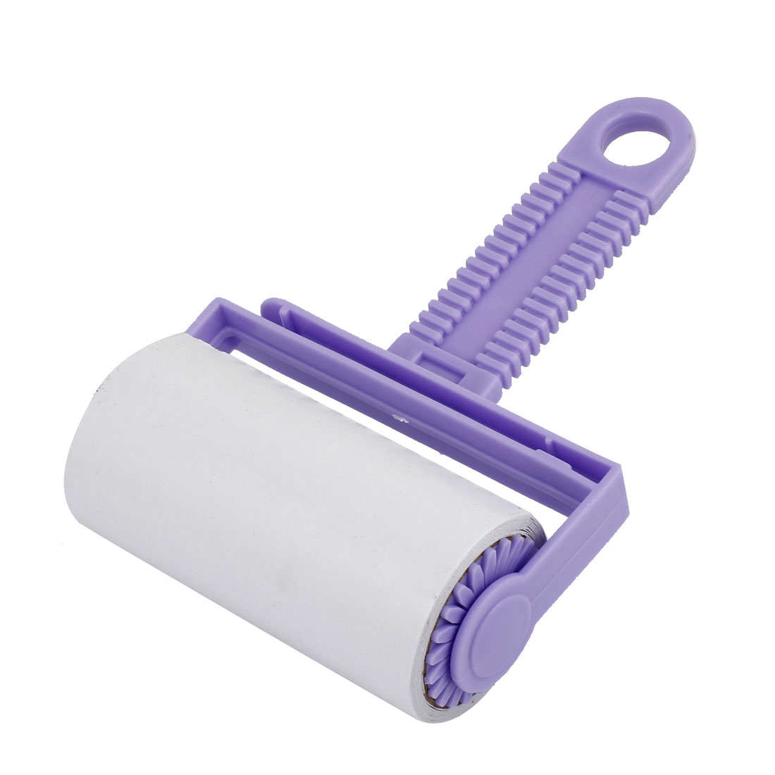 Purple Handle Clothes Anti-static Sticky Plastic Roller Manual Cleanner Tool