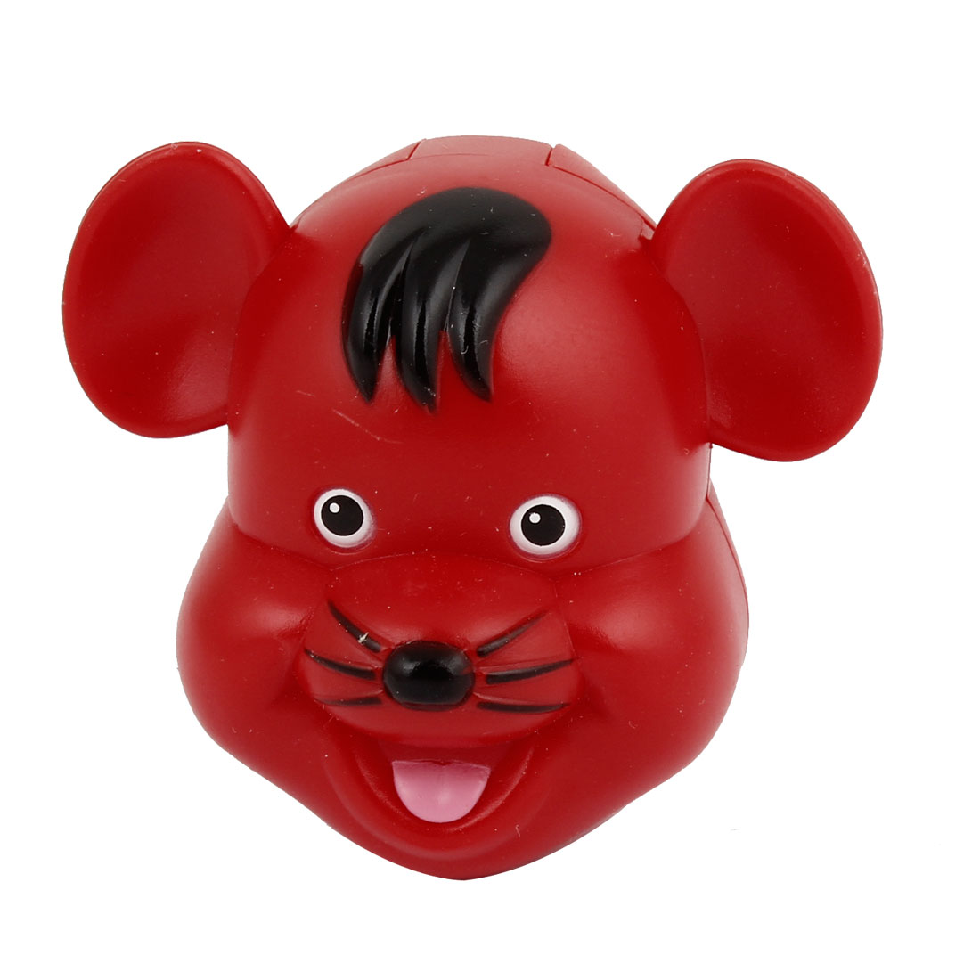 Bathroom Red Plastic Mouse Design Suction Toothbrush Holder Case