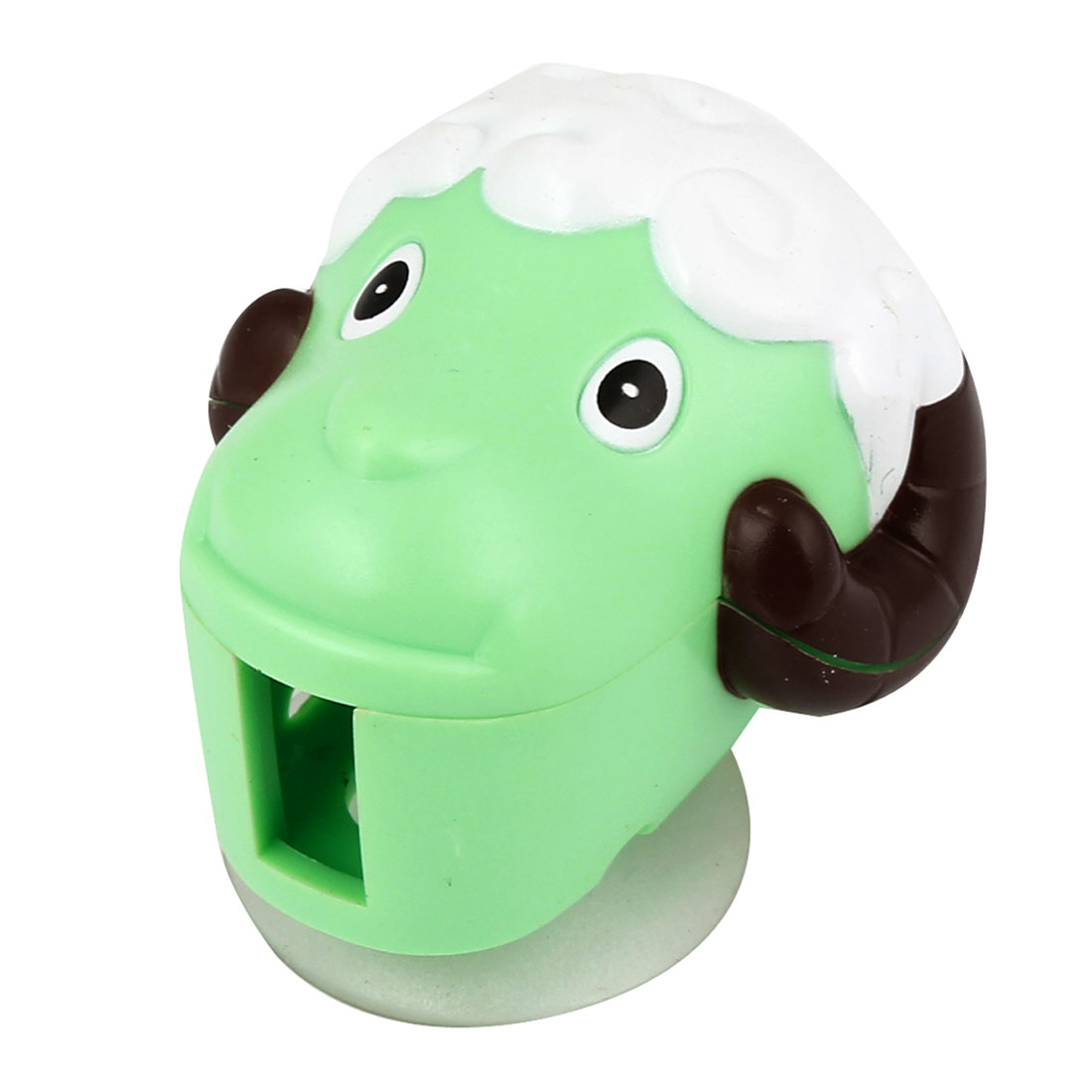 Portable Green Plastic Sheep Design Bathroom Suction up Toothbrush Rack Holder
