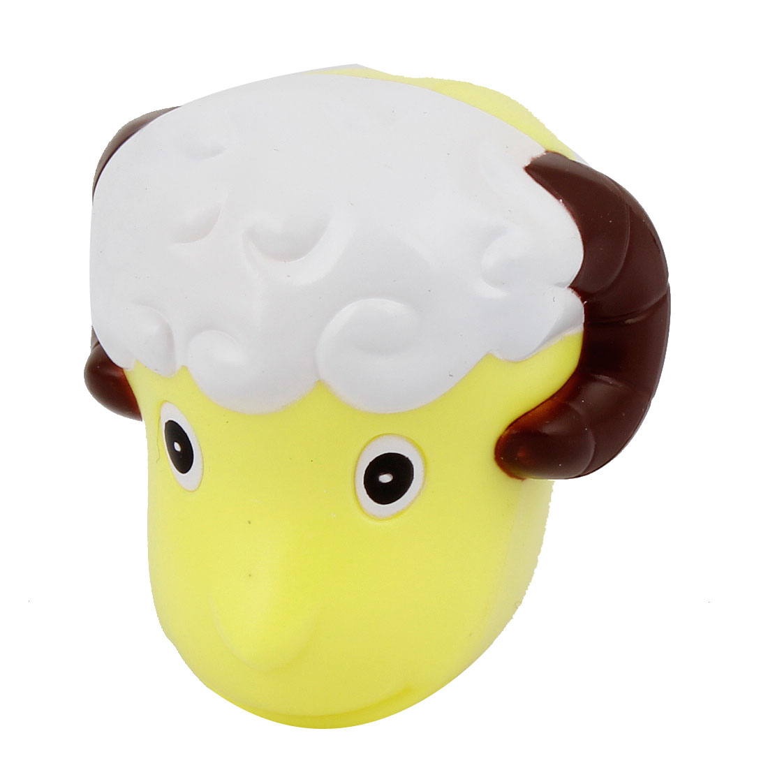Yellow Plastic Sheep Design Bathroom Suction up Toothbrush Holder Organizer