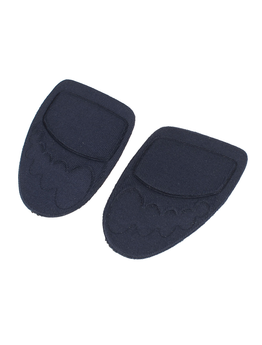 Pair Dark Blue Polyester High Heels Shoes Pure Adhesive Gel Front Insloes Pads