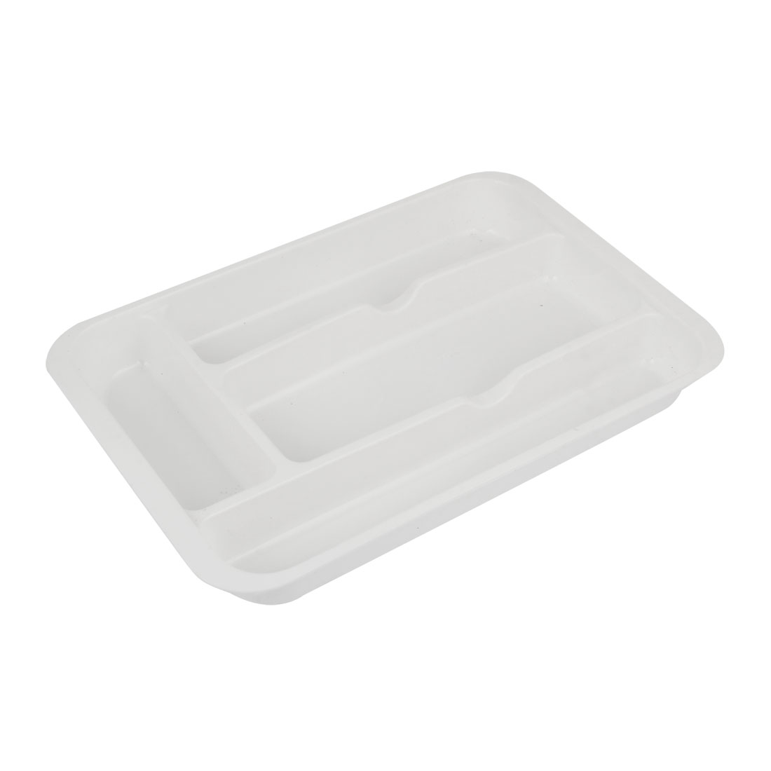 White Plastic 4 Slots Beads Necklaces Jewelry Holder Storage Box Case