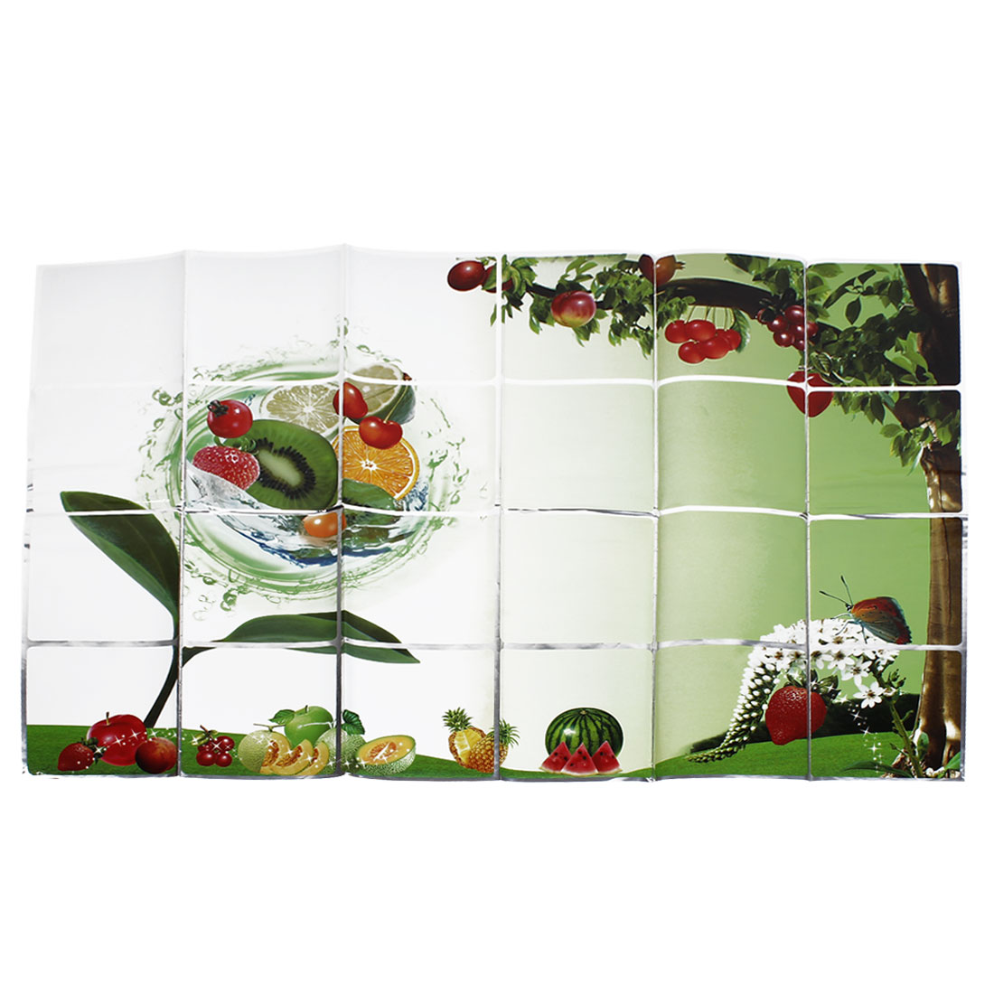 Kitchen Decor Fruit Printed Oil Resistant Wall Stickers Decal Green Red 60cmx90cm