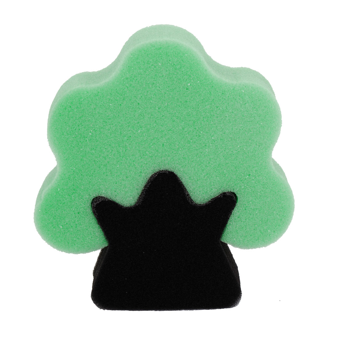 Tree Shape Black Green Bath Sponge Body Exfoliate Shower Loop Scrubber